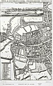 Loggan's Map of Oxford, Eastern Sheet, from 'Oxonia Illustrated', published 1675 by David Loggan