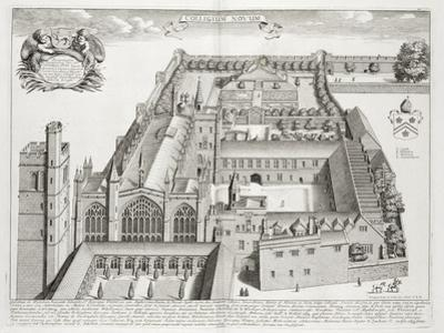 New College, Oxford, from 'Oxonia Illustrata', Published 1675 (Engraving)