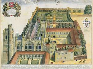 New College, Oxford, from 'Oxonia Illustrata', Published 1675 by David Loggan