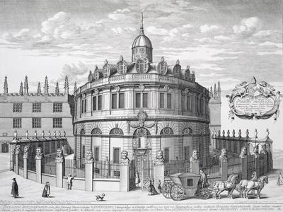 Sheldonian Theatre, Oxford, from Oxonia Illustrata, Published 1675