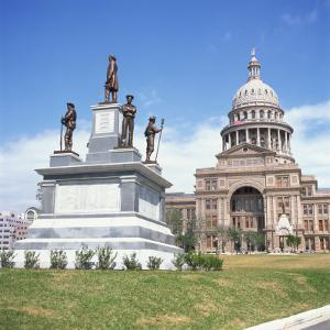 Alamo Monument and the State Capitol in Austin, Texas, United States of America, North America by David Lomax