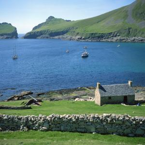 Cottage Beside Village Bay, St. Kilda, Western Isles, Outer Hebrides, Scotland, United Kingdom by David Lomax