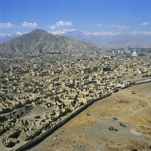 Devastation from Civil War, Kabul, Afghanistan by David Lomax