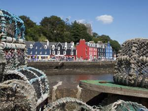 Lobster Pots in Tobermory, Mull, Inner Hebrides, Scotland, United Kingdom, Europe by David Lomax