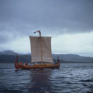 Replica Viking Ships, Oseberg, West Norway, Norway, Scandinavia, Europe by David Lomax