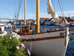 Traditional Wooden Boat, Colin Archer Type, Haugesund, Norway, Scandinavia, Europe by David Lomax