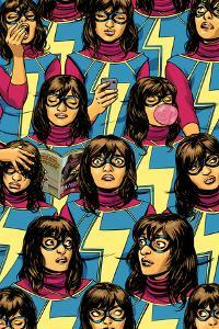 Ms. Marvel No. 5 Cover Featuring Ms. Marvel (Kamala Khan) by David Lopez