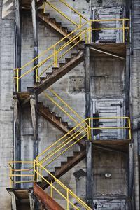 Yellow Railings by David Lorenz Winston
