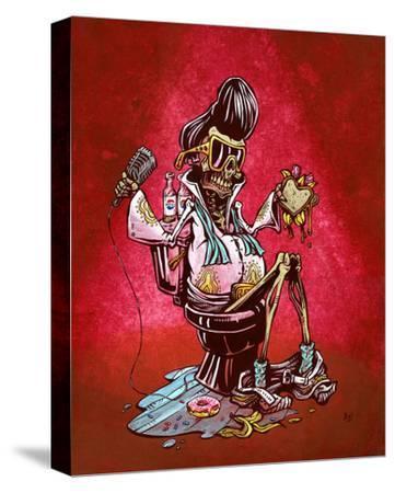 Elvis On His Throne by David Lozeau