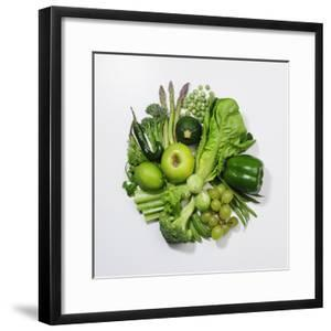 A Selection of Green Fruits & Vegetables. by David Malan