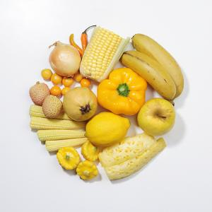 A Selection of Yellow Fruits & Vegetables. by David Malan