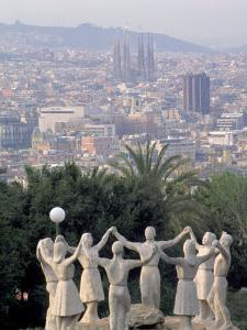 Sculpture with Barcelona in Background, Spain by David Marshall
