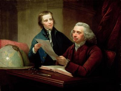 Portrait of James Russell (D.1773) Professor of Natural Philosophy at Edinburgh University and His