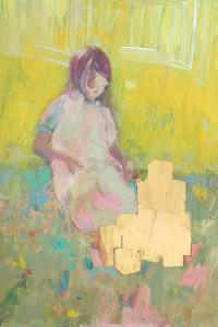 Girl and Building Blocks, 2016 by David McConochie
