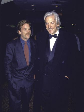 Actor Kiefer Sutherland and Father, Actor Donald Sutherland