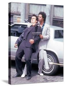 "Actors Philip Michael Thomas and Shooting Scene From Thomas's Television Series ""Miami Vice"" by David Mcgough"