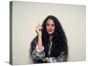 Actress Sonia Braga, Holding Cigarette by David Mcgough