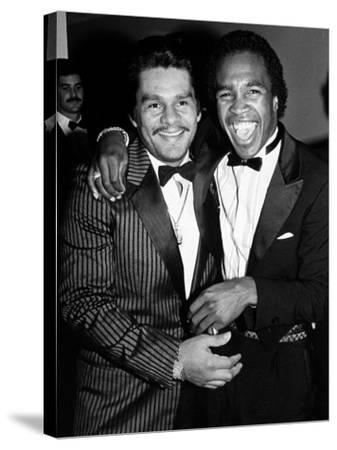 Boxing Greats Roberto Duran and Sugar Ray Leonard at 20th Anniversary of World Boxing Council