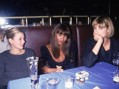 Models Kate Moss, Naomi Campbell and Linda Evangelista