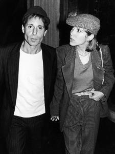 Musician Paul Simon with Longtime Girlfriend, Actress Carrie Fisher, at the Savoy by David Mcgough