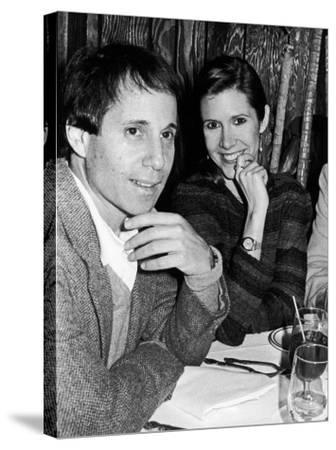 Paul Simon with Girlfriend, Carrie Fisher, at Party for Fisher's Dad, Singer Eddie Fisher