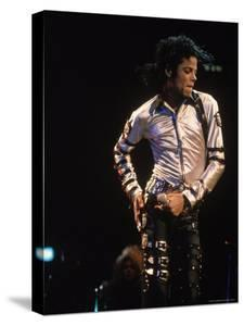 Pop Entertainer Michael Jackson Singing and Dancing at Event by David Mcgough