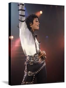 Pop Entertainer Michael Jackson Striking a Pose at Event by David Mcgough