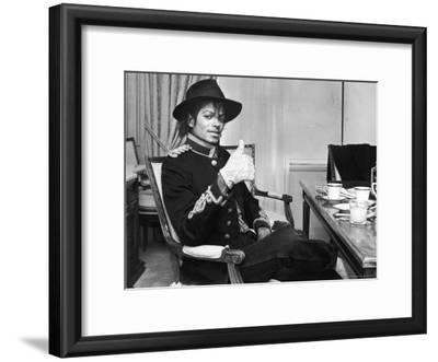 Pop Star Michael Jackson in His Hotel Room Prior to Party for Him at the Museum of Natural History