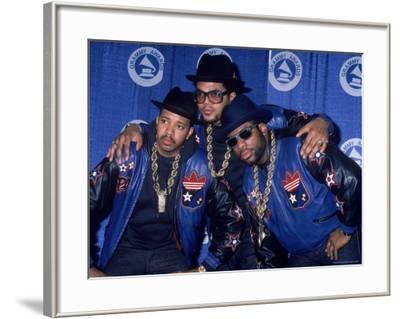 Rap Group Run DMC at the Grammys Joe Simmons, Darryl McDaniels and Jason Mizell