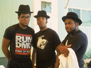 Rap Group Run DMC: Darryl McDaniels, Joe Simmons and Jason Mizell by David Mcgough