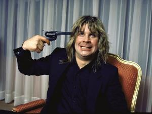 Rock Musician Ozzy Osbourne by David Mcgough