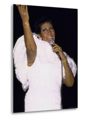 Singer Aretha Franklin Performing