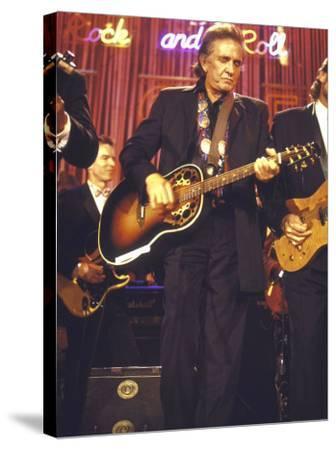 Singer Johnny Cash Performing