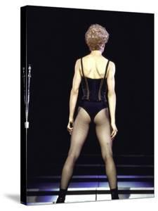 Singer Madonna Performing, Back to Camera by David Mcgough