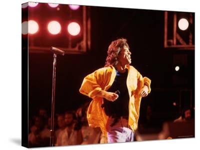 Singer Mick Jagger Performing