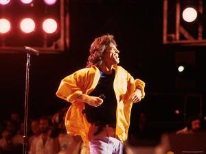 Singer Mick Jagger Performing by David Mcgough