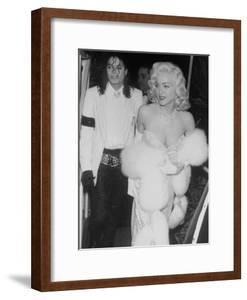 """Singers Madonna and Michael Jackson on Way to Agent Irving """"Swifty"""" Lazar's Annual Oscar Party by David Mcgough"""