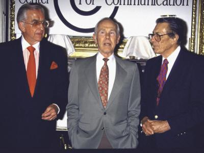 Television Personalities Ed Mcmahon and Johnny Carso with Producer Fred De Cordova