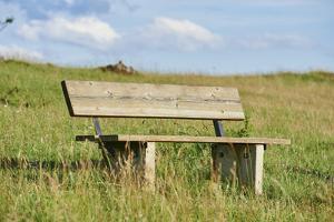 bench, Schanzberg, Upper Palatinate, Bavaria, Germany, Europe, by David & Micha Sheldon