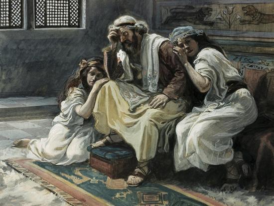 David Mourns His Son Ammon-James Jacques Joseph Tissot-Giclee Print