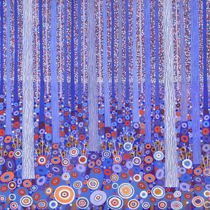 Blue Orange Forest, 2015 by David Newton