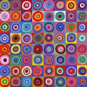 In Square Circle 64 after Kandinsky, 2012 by David Newton