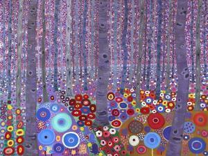Klimt's Forest, 2010 by David Newton
