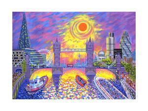 Sunset: Pool of London, 2013 by David Newton