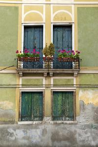 Exterior Detail of a House in Venice, Italy by David Noyes