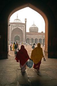 Jama Masjid Mosque, Delhi, India by David Noyes