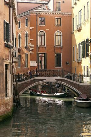 Small Bridge over a Side Canal in Venice, Italy