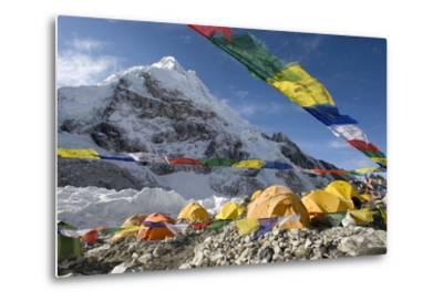 Tents of Mountaineers Scattered Along Khumbu Glacier, Base Camp, Mt Everest, Nepal