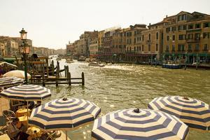 The Bustling River Front Along the Gran Canal, Italy by David Noyes