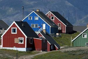 The Colorful Cottages of the Town Narsaq, Greenland by David Noyes